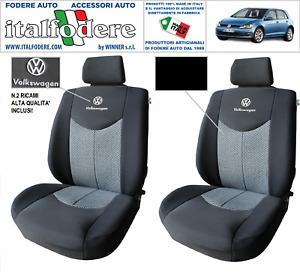 COPPIA COPRISEDILI VW GOLF VII SU MISURA Foderine SOLO ANTERIORI NERO
