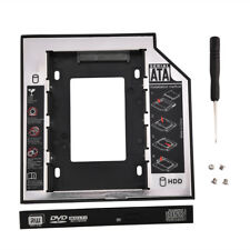 "2.5"" SATA Hard Drive HDD Caddy Bracket Laptop Internal 12.5mm CD/DVD-ROM Tray SG"