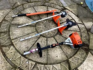 STIHL KM131R PROFESSIONAL KOMBI ENGINE + 3 ATTACHMENTS YR.09.2018