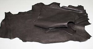 Lambskin soft leather skins WASHED RUSTIC BROWN VEGETABLE TAN 9sqf A2235