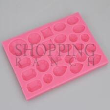 Diamond Jewels and Gems Silicone Mould Cake Cupcake Toppers