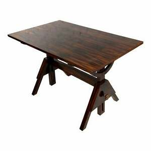 Modern Zebra Wood Veneer Writing Table
