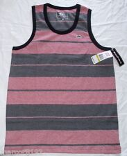 Ecko unltd Men T-Shirt Gray & Red Striped Tank Tee Size Small New W/ Tag