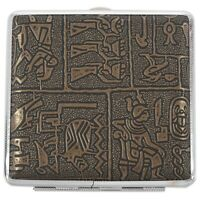 1X(Egyptian style Ultra-thin cigarette case D7D3)