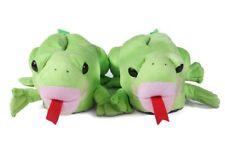 HAPPY FEET Freddie the Frog Comfy Animal SLIPPERS, Size XL
