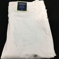 Charter Club Lexington Straight Leg Jeans Sz 14 Short Stretch Bright White  NWT