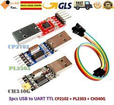 3pcs USB to TTL Module 1pc PL2303 + 1pc CP2102 + 1pc CH340 USB UART Module GLS