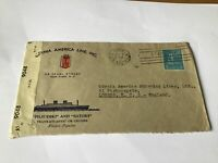 America Line Gdynia 1944 to London illustrated Censor stamp cover Ref R28590