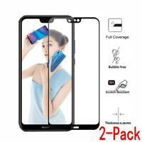 For Huawei P20 Lite /Nova 3E, 2pcs Full Cover 9H Tempered Glass Screen Protector