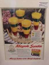 Original 1950 Vintage food Advert Birds Custard Maypole Sundae Jelly and Custard
