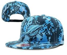 MIAMI DOLPHINS SNAP BACK HAT CAP CAMOFLAUGE ADJUSTABLE SIZE NEW W/OUT TAGS