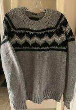 Vtg Abercrombie & Fitch Mens XL Sweater Hand Knit Shetland Wool Crewneck NWT
