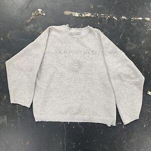 Vtg 90s Victoria Secret Underware Sweatshirt Distressed Fade Sexy Soft Necessary