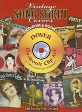 Vintage Song Sheet Covers CD-ROM and Book (Dover Electronic Clip Art), , Good Bo