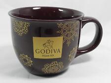 Godiva Belgium 1926 Brown Large 12 Oz Ceramic Coffee Tea Cup Mug Soup