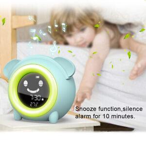Wake Up Alarm Clock with Night Light Kids Sleep Trainer Clock Sound Machine