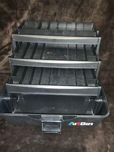 Flambeau ArtBin Craft Hobby Supply Storage Box 3 Tier Trays Made In USA