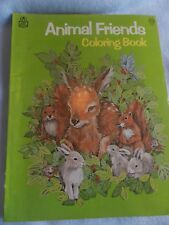 Coloring Book Rare Rand McNally Animal Friends   Uncolored NEW Old Stock!