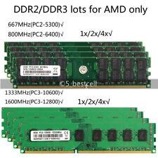 2G/4GB/8GB/16GB DDR2 DDR3 667/800/1333/1600MHz DIMM Desktop AMD Memory Ram lot