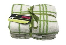 100% COTTON EPSOM TEA TOWELS KITCHEN LUXURY TOWEL CHECK DESIGN PACK OF