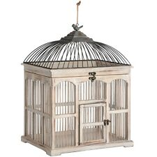 ANTIQUE WHITE VICTORIAN BIRD CAGE- CAN BE USED AS A DISPLAY ITEM.