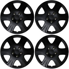 "4 Pc Set 15"" inch BLACK MATTE Hub Caps Cover for OEM Steel Wheel Covers Cap"