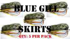 BLUEGILL BANDED SKIRTS-Chatterbait spinnerbait, Bass lure skirts.Qty: 5 per pack