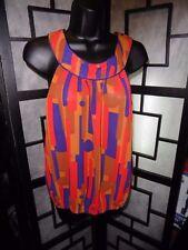 Women's TWENTY ONE Sleeveless Sheer Multi-Colored Top Size S