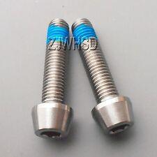 2pcs M7 x 30 Titanium Ti Screw Bolt Allen hex Taper Socket Cap Head+Threadlocker
