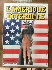 affiche poster de cinéma érotique L'AMÉRIQUE INTERDITE (40x55cm)- Neuve