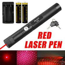 Powerful 650nm Red Laser Pointer Pen Visible Beam Light Lazer + 18650 + Charger