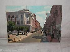 Vecchia cartolina foto d epoca di Taranto Via D'Aquino scorcio strada palazzi