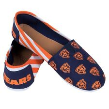 Women's Forever Collectibles Chicago Bears NFL Striped Canvas Shoes, Size Small