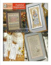 Cross Stitch Pattern Book FAITHFUL INSPIRATION ~ 27 Inspiring Religious Designs
