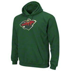 NWT Antigua Mens Minnesota Wild Hooded Applique Pullover Sweatshirt Medium Green