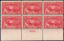 1913 US Stamp #Q1 PP1 1c Mint Stamp Plate Block of 6 Catalogue Value $175