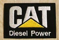 "CAT CATERPILLAR Logo Patch DIESEL POWER Iron / Sew On Heavy Equipment Badge 3"""
