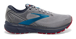 NEW Brooks Ghost 14 Running Shoes Grey Blue Red Men's Sizes 8-14 FREE SHIPPING