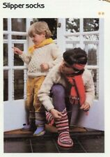 Slipper Socks for Kids Age 4-5 Cavendish Crochet Pattern/Instructions Leaflet