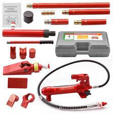 4 Ton Porta Power Hydraulic Jack Body Frame Auto Shop Tool Heavy Set Repair Kit