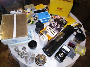 Huge 25 lb Lot Vintage Photography Processing Darkroom Supplies & Equipment