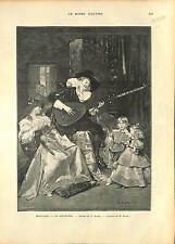 La Sarabande de Ferdinand Roybet Spain Costume Angélique (instrument) 1896