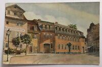AK Weimar Goethehaus - gelaufen Bahnpost Berlin Eisenach 8.3.24