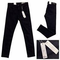 ESPRIT Black Snakeskin Print Stretch Slim Fit Jeans Size 29 NEW RRP £55