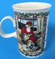 Merry Christmas Victorian Santa 9 oz Coffee Mug Holiday Children Tea Cup Dunoon