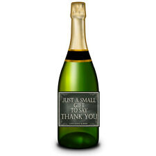 Personalised Champagne Wine Bottle label Wedding Gifts Thank you present x 12