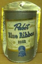 PABST BLUE RIBBON BEER Flat Top CAN MADE INTO A FLOWER & PENCIL HOLDER Budweiser