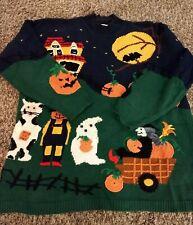 Halloween Sweater - Marisa Christina - 1990s Vintage - Women's Large