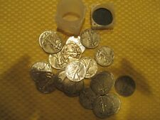 MIXED DATES LIBERTY WALKING HALF DOLLAR 50C, FULL ROLL 20 COINS