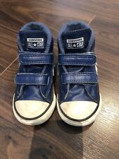 Baby Boys Blue Leather Converse All Star High Tops. Size UK6